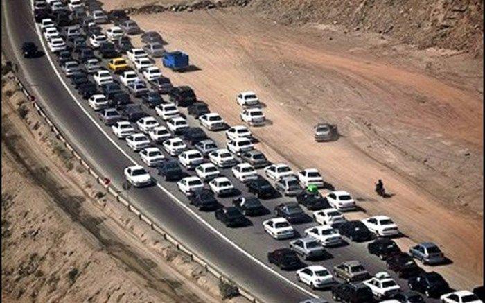 ترافیک پرحجم در محورهای منتهی به چهار پایانه مرزی اربعین