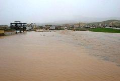 تخریب پل محدوده راه وشهرسازی برای روان سازی سیل در شهر سرابله