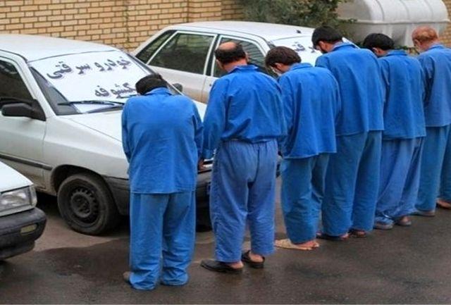 انهدام ۲ باند سرقت خودرو در زاهدان/6 سارق حرفه ای دستگیر شدند