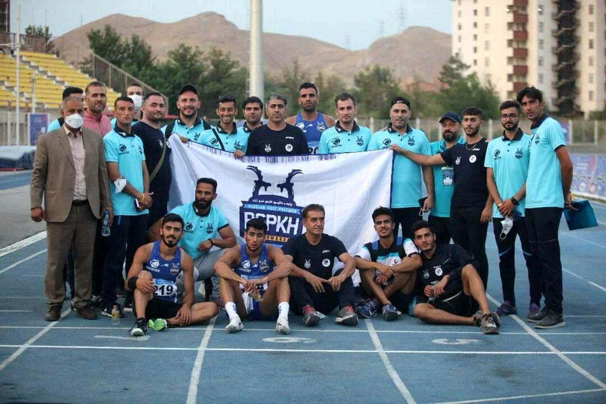 قهرمانی تیم دو و میدانی پلیمر خلیج فارس خرم آباد در مسابقات قهرمانی باشگاههای  کشور