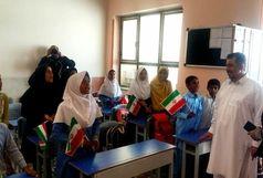 بازدید معاون امور جوانان از مدرسه ساخته شده به همت حسین علی مرادی