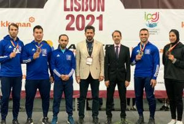 یک سهمیه المپیک و ۴ مدال طلا، نقره و برنز به ایران رسید