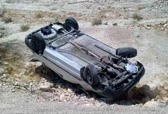 ۶مصدوم در واژگونی خودروی ال ۹۰ در محور الیگودرز - اصفهان
