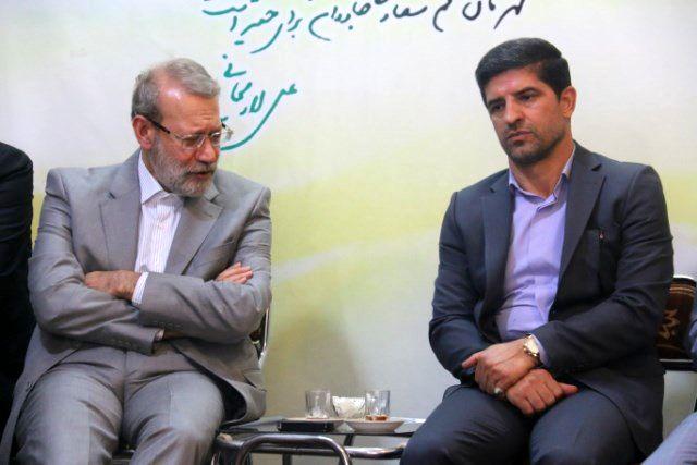 دیدار مسئولین ورزش قم با رئیس مجلس شورای اسلامی