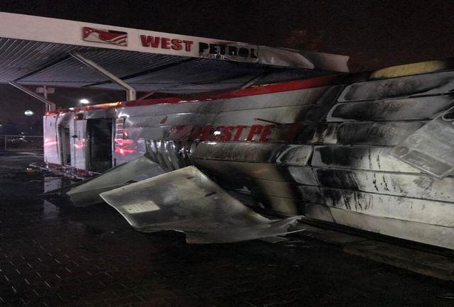 آتش سوزی مهیب در پمپ بنزین/حادثه یک مصدوم داشت