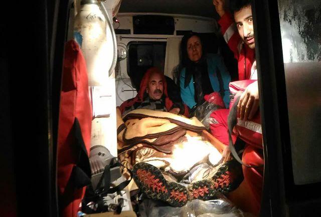 نجات گروه  کوهنورد مرد وزن از کوههای تسوج