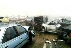 تصادف زنجیرهای ۱۰ خودرو در آزاد راه زنجان-قزوین یک کشته و 7 مصدوم داشت