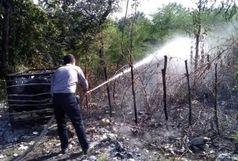 مهار آتش سوزی در بخش بیرونی سایت موزه میراث روستایی گیلان