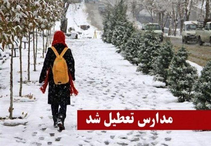 تعطیلی تمامی مدارس استان زنجان به دلیل بارش برف و برودت هوا