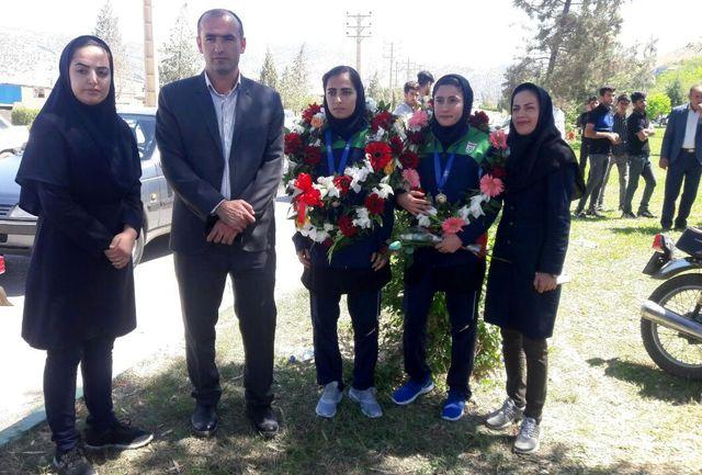 برگزاری مراسم استقبال از ملی پوشان فوتسال بانوان قهرمان آسیا در ایذه