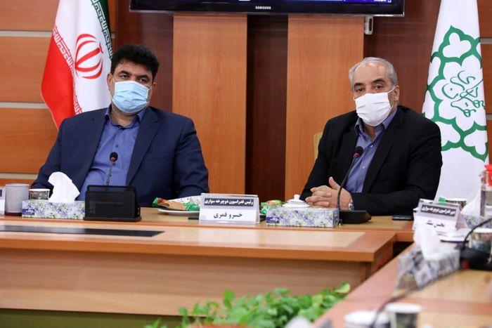 دیدار رئیس فدراسیون دوچرخه سواری با شهردار منطقه ۱۷ تهران