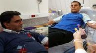 اهدای خون روسای هیاتهای ناشنوایان
