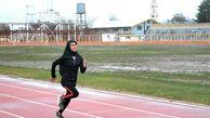 مصاف بانوان دو و میدانی کار قزوینی با رقبا  در مسابقات بین المللی مشهد