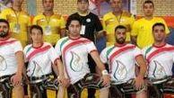 مدال طلای تیمی مسابقات جهانی زورخانه ای بر گردن ورزشکار گرگانی
