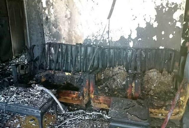 محاصره شدن 9 شهروند تبریزی در میان دود و آتش