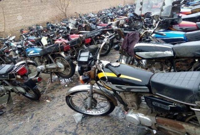 ۱۳۹ دستگاه موتورسیکلت رسوبی در فامنین ترخیص شدند