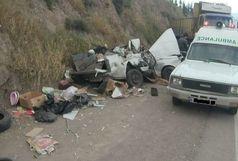 برخورد پیکان وانت با کامیون یک کشته برجای گذاشت
