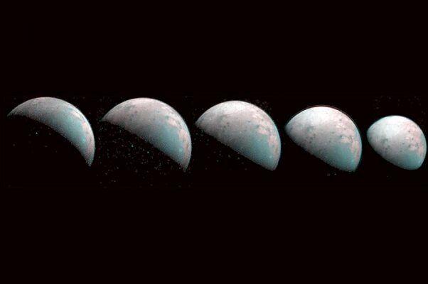 انتشار اولین تصاویر رنگی از قطب شمال قمر مشتری+ببینید
