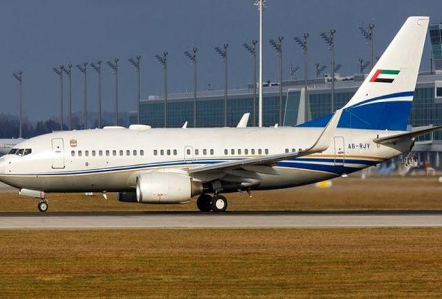 فرود یک هواپیمای اماراتی در فرودگاه «بن گوریون»