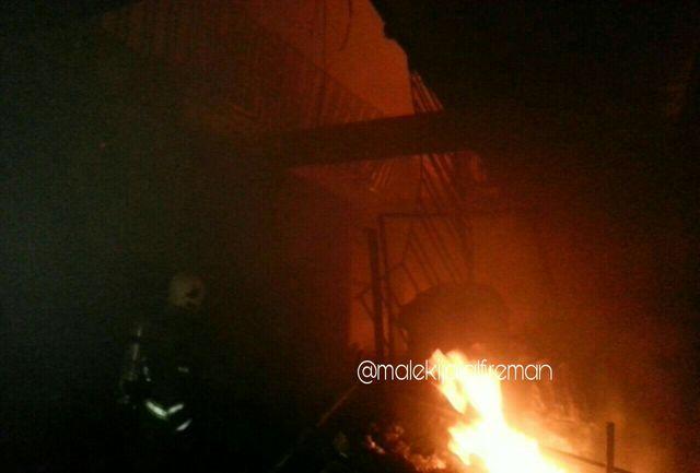 آتشسوزی شدید در مسجد جامع ساری/حریق بهجان بازار نرگسیه افتاد