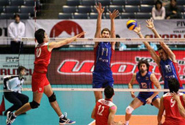 سومین شکست والیبال ایران برابر آلمان رقم خورد