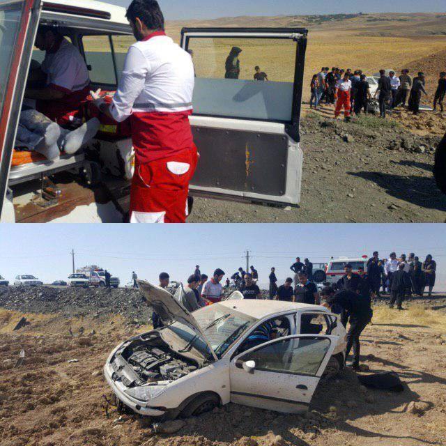 ۲ کشته و زخمی براثر واژگونی پژو