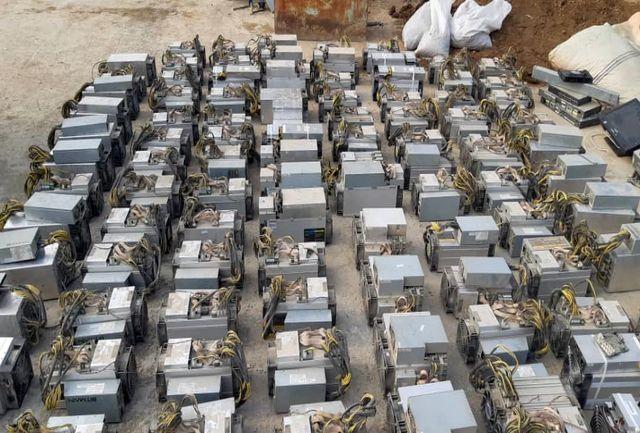 ۱۷۶۹ دستگاه استخراج رمز ارز دیجیتال در استان همدان کشف شد