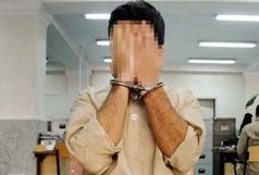 دستبند قانون بر دستان قاتل فراری در
