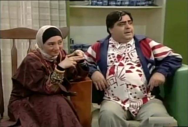 مهران مدیری همراه با  بامشاد در تلویزیون