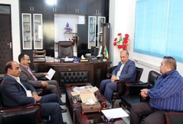 دیدار مدیرکل بنیاد مسکن انقلاب اسلامی استان با فرماندار شهرستان آبدانان
