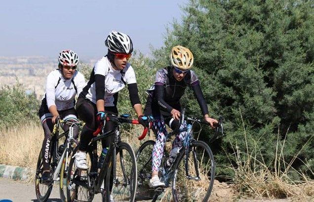 عنوان نایب قهرمانی ایران برای بانوان دوچرخه سواری هرمزگان