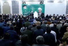 مراسم سالگرد ارتحال آیت الله رفسنجانی در قزوین برگزار شد