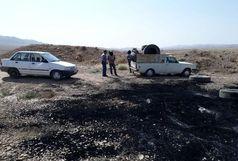 دستگیری آتش زنندگان لاستیک های فرسوده در بوئین زهرا