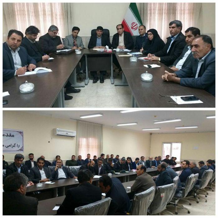 برگزاری جلسه شورای هماهنگی مبارزه بامواد مخدر شهرستان در بخش هلیلان