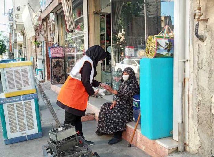 توزیع ماسک و بروشور های بهداشتی توسط اداره بهزیستی شهرستان ملارد