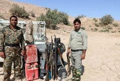 کشف سلاح و شکارغیرمجاز از متخلفین در شهرستان زهک