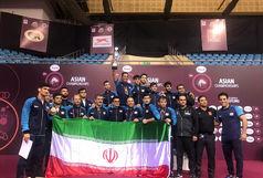 ایران قهرمان کشتی فرنگی آسیا شد