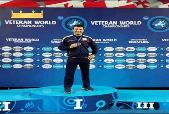 دومین مدال طلای پیشکسوتان گیلانی در مسابقات کشتی فرنگی جهان
