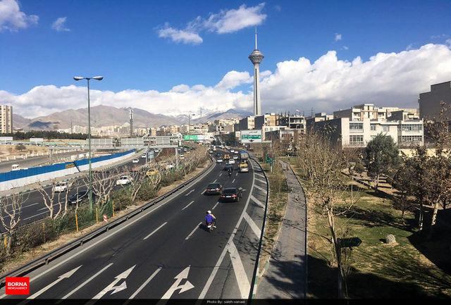 کیفیت هوای تهران در محدوده قابل قبول