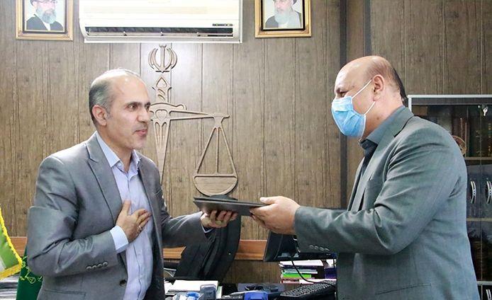 دیدار فرماندار شهرستان شهریار با رئیس دادگستری شهرستان