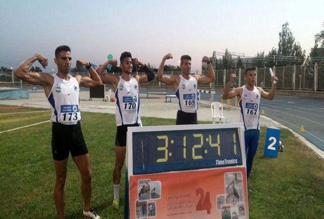 نایب قهرمانی پلیمر خلیج فارس خرم  آباد در مسابقات دوومیدانی قهرمانی  باشگاه های کشور