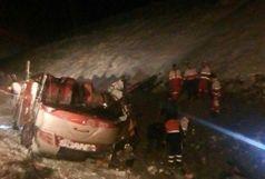 واژگونی اتوبوس خوی-تهران با ۴ کشته