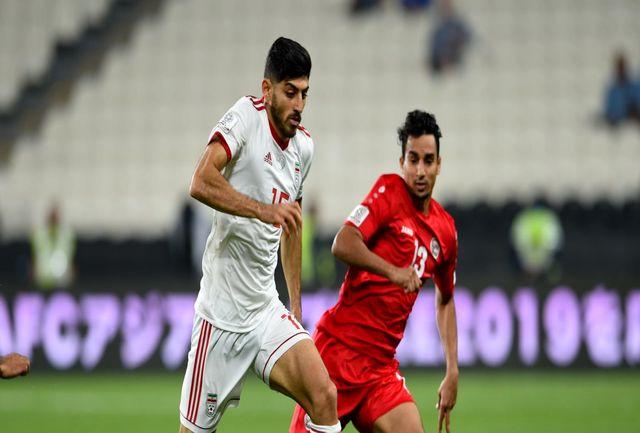 پیروزی پرگل ایران مقابل یمن در پایان نیمه اول