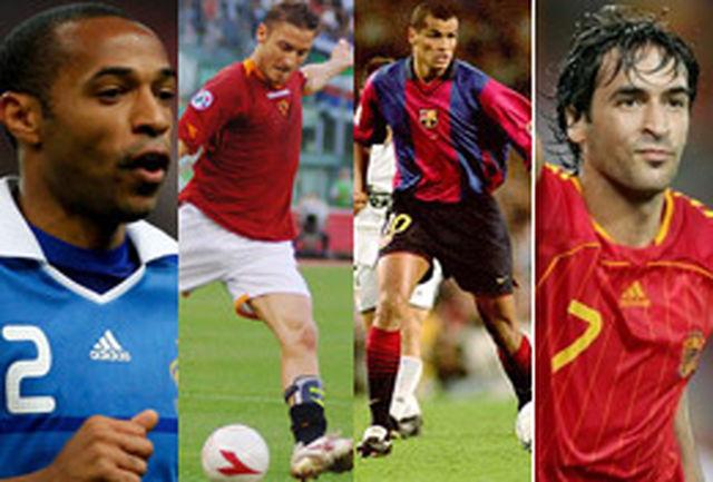 ریوالدو، رائول، هانری و توتی در لیست بهترین گلزنان باشگاهی جهان