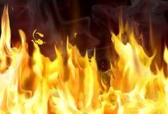 یک منزل مسکونی در بلوار پاسداران آتش گرفت
