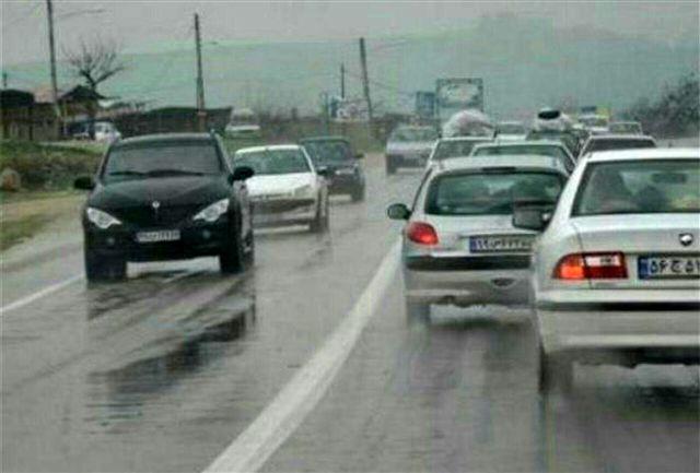 جاده های این 5 استان بارانی است!