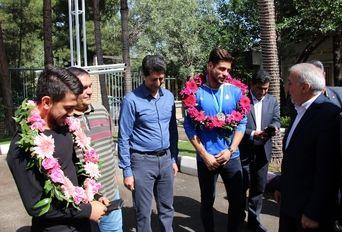 استقبال مدیرکل ورزش وجوانان  استان کرمانشاه از قهرمانان مسابقات لیگ جهانی کاراته