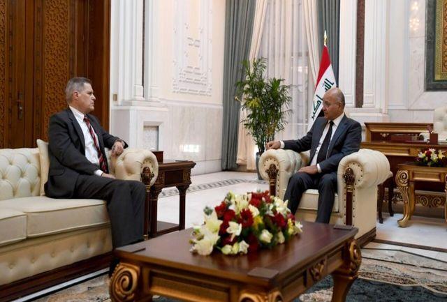 دیدار رئیس جمهور عراق با سفیر آمریکا در بغداد
