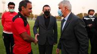 حضور وزیر ورزش و جوانان در جمع تیم ملی فوتبال