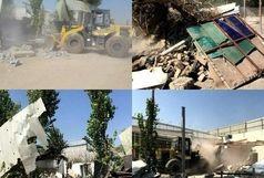 تخریب ۲۱مورد ساخت وسازغیرمجازدربخش قلعه نو
